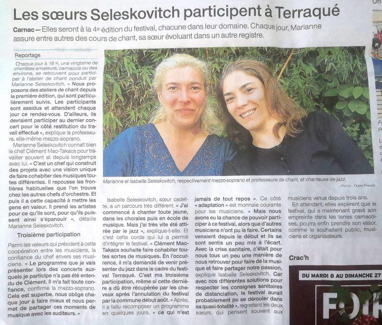 Article Carnac Terraqué