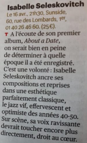 article Télérama Sortir